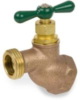 "Smith-Cooper International 168L Series Brass No Kink Hose Bibb, Potable Water Service, Elbow, T-Handle, 1/2"" NPT Female"