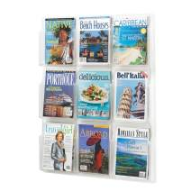 Safco Products Reveal 9 Magazine Display, 5603CL, Wall Mountable, Thermoformed Plastic Resin Construction, No Sharp Edges or Corners