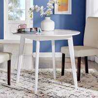 """Modway Vision 35"""" Round Dining Table, White"""