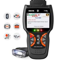 INNOVA 7100P Live Data Check Engine/SRS/ABS Diagnostic with Oil Light Reset/Battery Replacement Registeration/Battery Alternator Test/Bluetooth with Free Pouch, Enhanced OBDII Code Reader Scan Tool