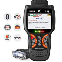 INNOVA 7100P Live Data Check Engine/SRS/ABS Scan Tool with Battery Registeration/Oil Change Reset/Battery Alternator Test/Bluetooth with Free Pouch for BMW, Porsche, Mercedes, VW, Audi, All Cars
