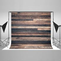 Kate10ft(W) x10ft(H) Dark Wood Photography Backdrop Retro Brown Wooden Photo Background Potrait Photo Studio Props for Photography Free Wrinkle Cotton Cloth