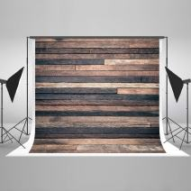 Kate7ft(W) x5ft(H) Dark Wood Photography Backdrop Retro Brown Wooden Photo Background Potrait Photo Studio Props for Photography Free Wrinkle Cotton Cloth