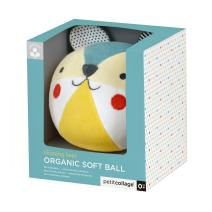 Petit Collage Eco-Friendly Organic Cotton Baby Soft Chime Ball, Blue