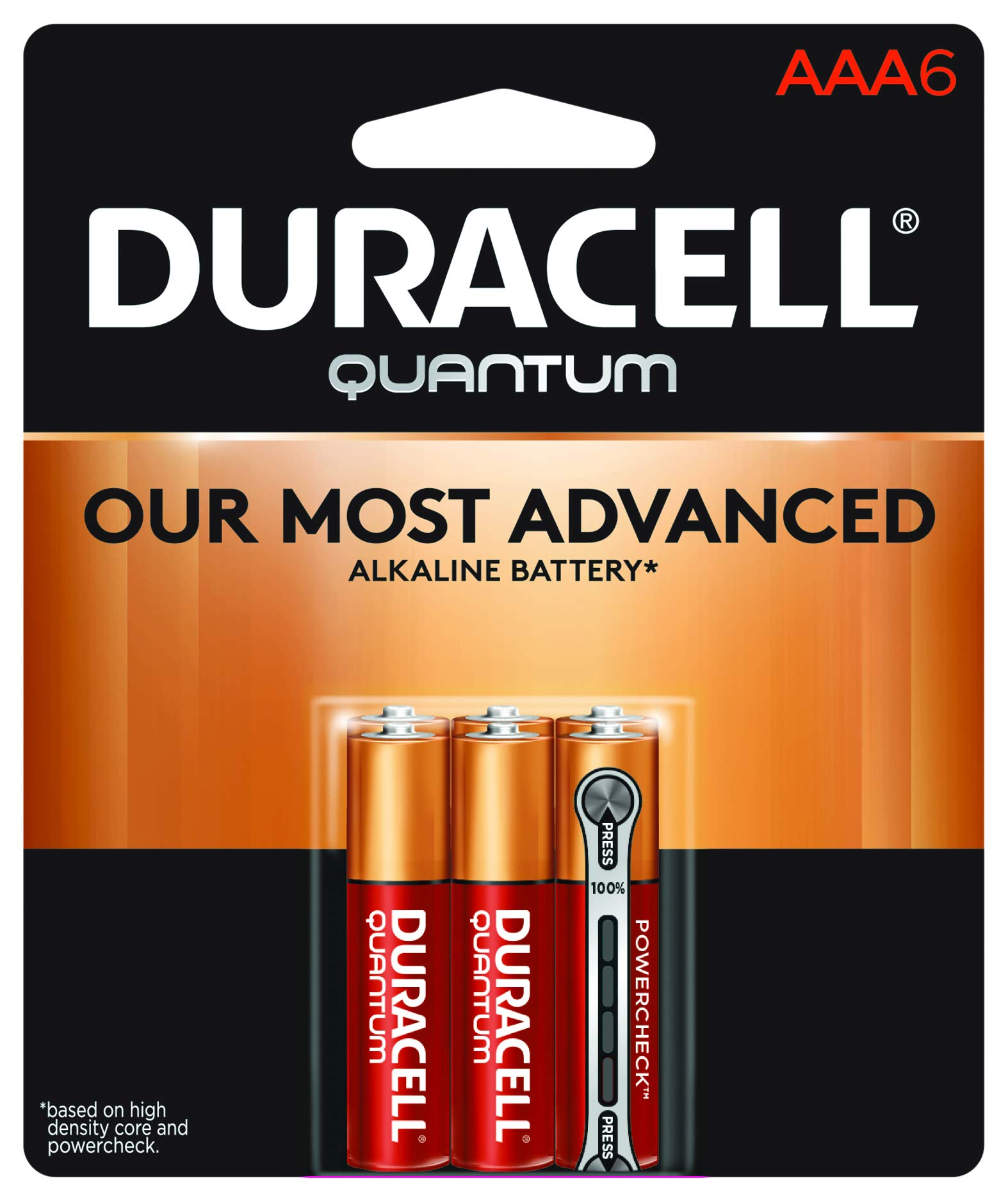 Duracell - Quantum AAA Alkaline Batteries - long lasting, all-purpose Double A battery for household and business - 6 count