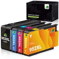 JARBO 952XL (Newest Chip) Compatible Ink Cartridge Replacement for HP 952XL, for HP Officejet Pro 8710 8720 8702 8715 8740 7740 7720 8730 8210 8216 Printer (1BK, 1C, 1M, 1Y) 4 Pack