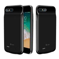 A-TION iPhone 8 Plus & 7 Plus Battery Case, Support Lightning Headphones 4000mAh (5.5 inch) Ultra-Thin Rechargeable Portable Charging Case for iPhone 8 / 7 Plus, 120% Extra Battery Power Bank (Black)