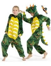 CASABACO Triceratop Dinosaur Dragon Onesie Kid Halloween Girl Pajama Costume Boy Christmas