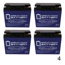 12 VOLT 22 AH GEL BATTERY - 4 PACK - Mighty Max Battery brand product