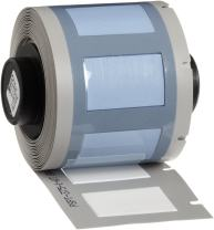 "Brady PSPT-375-1-WT TLS 2200 And TLS PC Link PermaSleeve 0.645"" Height, 1.015"" Width, B-342 Heat-Shrink Polyolefin White Color Wire Marker Sleeves (100 Per Roll)"