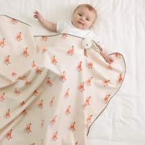 Little Fennec Cozy Flannel Cotton Cuddle Blanket for Newborns, Infants & Kids - Picnic