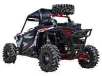SuperATV Spare Tire Carrier for Polaris RZR XP Turbo/XP 4 Turbo - Wrinkle Black