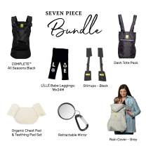 LÍLLÉbaby Everything Baby Bundle - 7 Items: Complete All Seasons 360° SIX-Position Ergonomic Baby & Child Carrier, Black + Multiple Accessories
