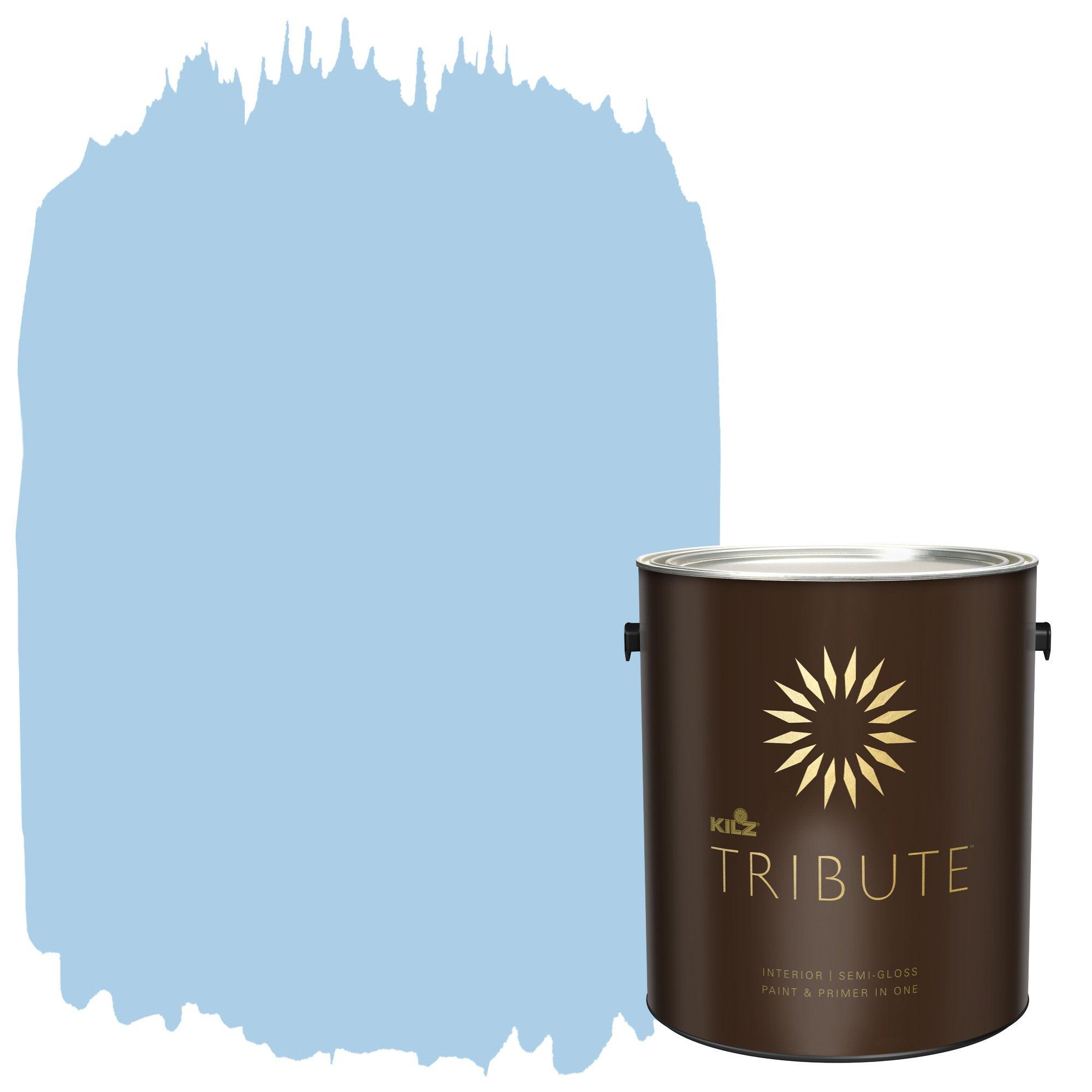KILZ TRIBUTE Interior Semi-Gloss Paint and Primer in One, 1 Gallon, Sea Balm (TB-43)