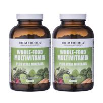 Dr Mercola Whole Food Multivitamin PLUS Tablets - 240 per Bottle - 30-day Supply - 2 Bottles - High-Potency Antioxidant Formula - Supports Healthy Vision, Immune System, Muscles, Vision & More
