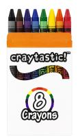 Craytastic! Bulk Crayons, 30 Individual Boxes of 8 Colors/Count Class Pack - Full Size, Premium (Red, Yellow, Green, Blue, Purple, Brown, Black) Safety Tested Compliant with ASTM D-4236