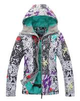 Women's Insulated Waterproof Ski & Snowboard Jacket Bright Colored Windproof Rain Jacket