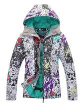 Women's Insulated Waterproof Ski & Snowboard Jacket Bright Colored Windproof Rain Jacket