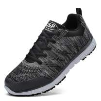 Udirini Steel Toe Work Shoes for Men and Women Trainers Shoes Puncture-Proof Work Safety Sneakers Light Breathable Industrial & Construction Shoe