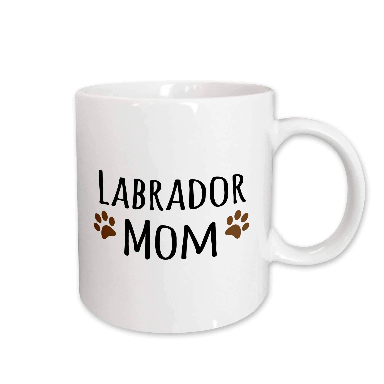 3dRose 154150_2 Labrador Dog Mom Mug, 15 oz, Ceramic