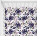 Sahaler Floral Crib Sheet for Girl Boy Baby Fitted Crib Sheets for Standard Crib and Toddle Mattresses-Purple Watercolor Floral