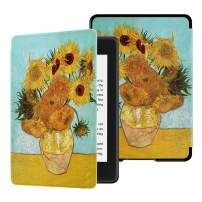 HUASIRU Water-Safe Case for All-New Kindle Paperwhite (10th Gen - 2018 Release only—Will Not fit Prior Gen Kindle Devices), Sunflowers
