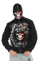 Charades Men's Serpent Skull Hoodie Costume