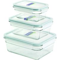 Glasslock 6-Piece Rectangle Oven Safe Container Set