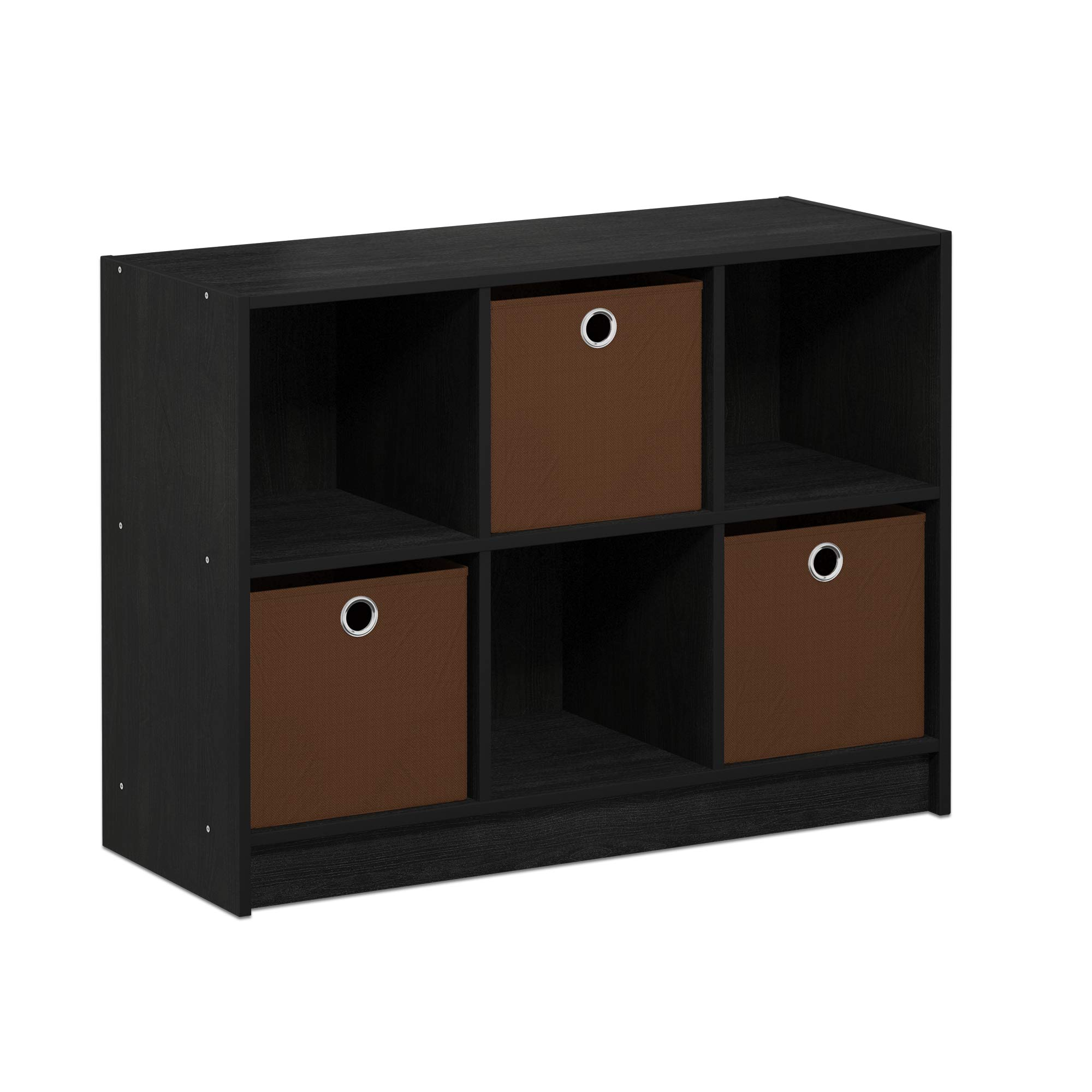 FURINNO Basic 3x2 Bookcase Storage, Americano/Brown