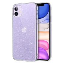 DUEDUE iPhone 11 Case, Ultra Slim Liquid Crystal Glitter Designed Shockproof Soft TPU Slim Case for iPhone 11, Clear