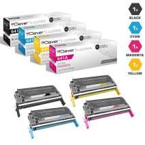 CS Compatible Toner Cartridge Replacement for HP 4610n C9720A Black C9721A Cyan C9722A Yellow C9723A Magenta HP 641A Color Laserjet 4600DN 4600DTN 4600HDN 4650DN 4650DTN 4650HDN 4 Color Set