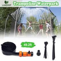 Landrip Trampoline Sprinklers, Trampoline Spray Water Park Fun Summer Outdoor Water Game Toys for Kids(49.2 Feet)