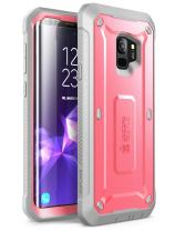 SUPCASE Unicorn Beetle Pro Series Case Designed for Galaxy S9, with Built-in Screen Protector Full-Body Rugged Holster Case for Galaxy S9 (2018 Release) (Pink)