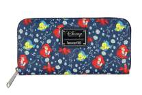 Loungefly Disney Little Mermaid Ariel And Flounder Faux Leather Full Zip Wallet