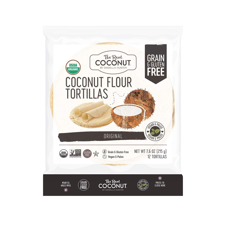 Real Coconut Tortillas, Original, 12 Count (Pack of 6)