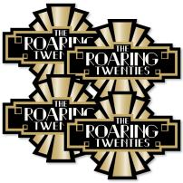 Roaring 20's - Art Deco DIY 1920s Jazz Party Essentials - 2020 Graduation and Prom Party - Set of 20