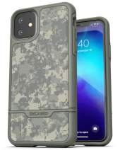 Encased Heavy Duty iPhone 11 Protective Case Camo (2019 Rebel Armor) Military Grade Full Body Rugged Cover (Camouflage Green)