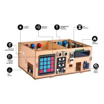 OSOYOO IoT Wooden House Learner Kit for Arduino MEGA2560 | STEM Set for Learning Internet of Things, Mechanical Building, Electronic kit, How to Code | Educational Coding for Kids Teens Adults