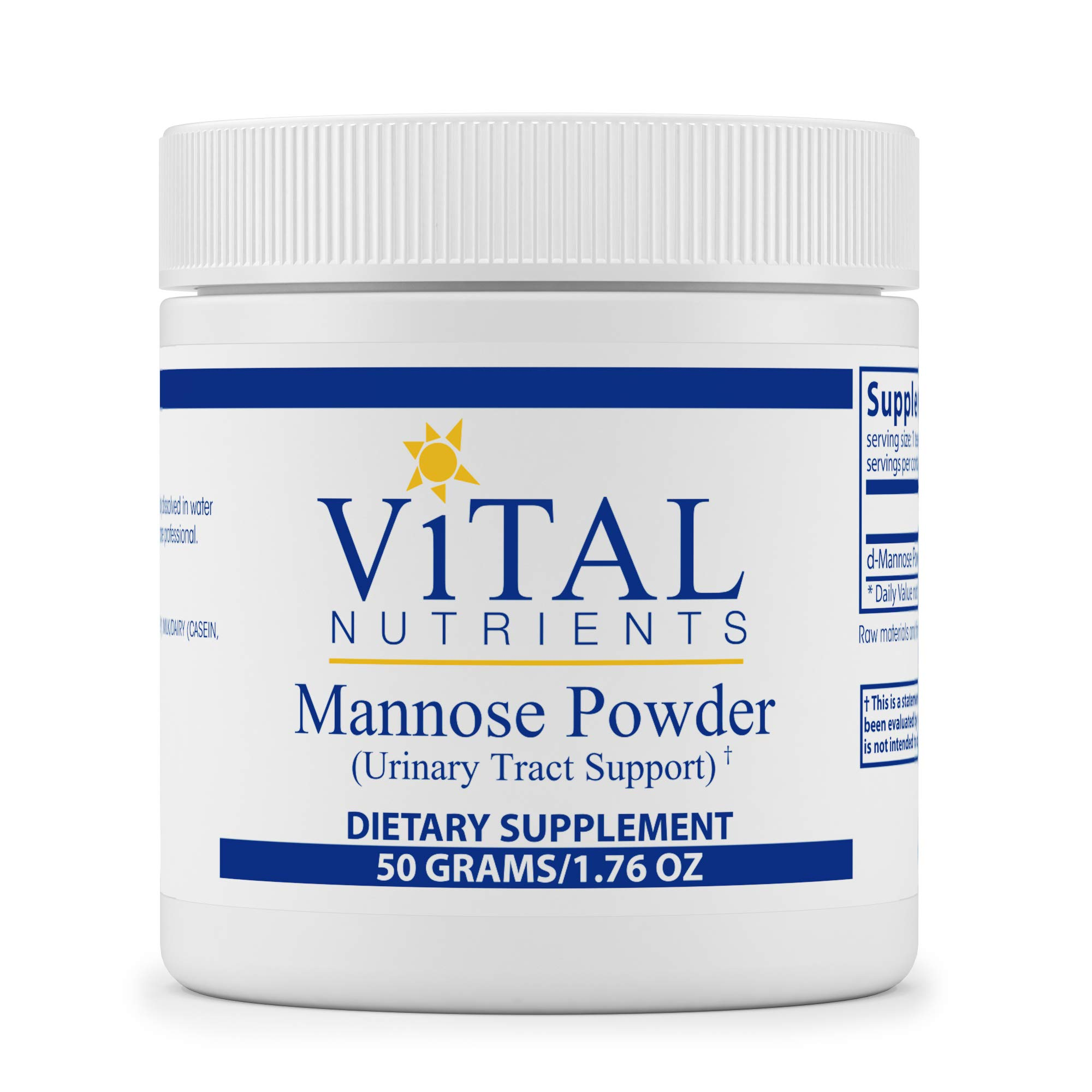 Vital Nutrients - Mannose Powder - Urinary Tract Support - 50 Grams per Bottle
