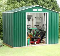 DOIT 6' x 4' Outdoor Steel Garden Storage Utility Tool Shed large Storage Space 131 Cubic Feet Green