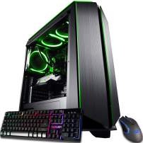 CUK Mantis Gaming PC (Liquid Cooled AMD Ryzen 9, NVIDIA GeForce RTX 2080 Ti 11GB, 64GB RAM, 1TB NVMe SSD + 2TB HDD, 750W Gold PSU) Best Tower Desktop Computer for Gamers