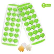 Gifbera Dog Face Silicone Small Ice Cube Tray Set of 2, Animal Puppy Face Silicone Candy Jelly Reusable Ice Cube Trays Silicone, Ice Trays for Freezer, LFGB Certified, BPA Free and Dishwasher Safe