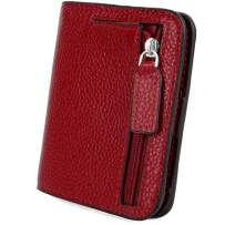 YALUXE Genuine Leather Wallet Women's RFID Blocking Small Compact Ladies Mini Purse with ID Window