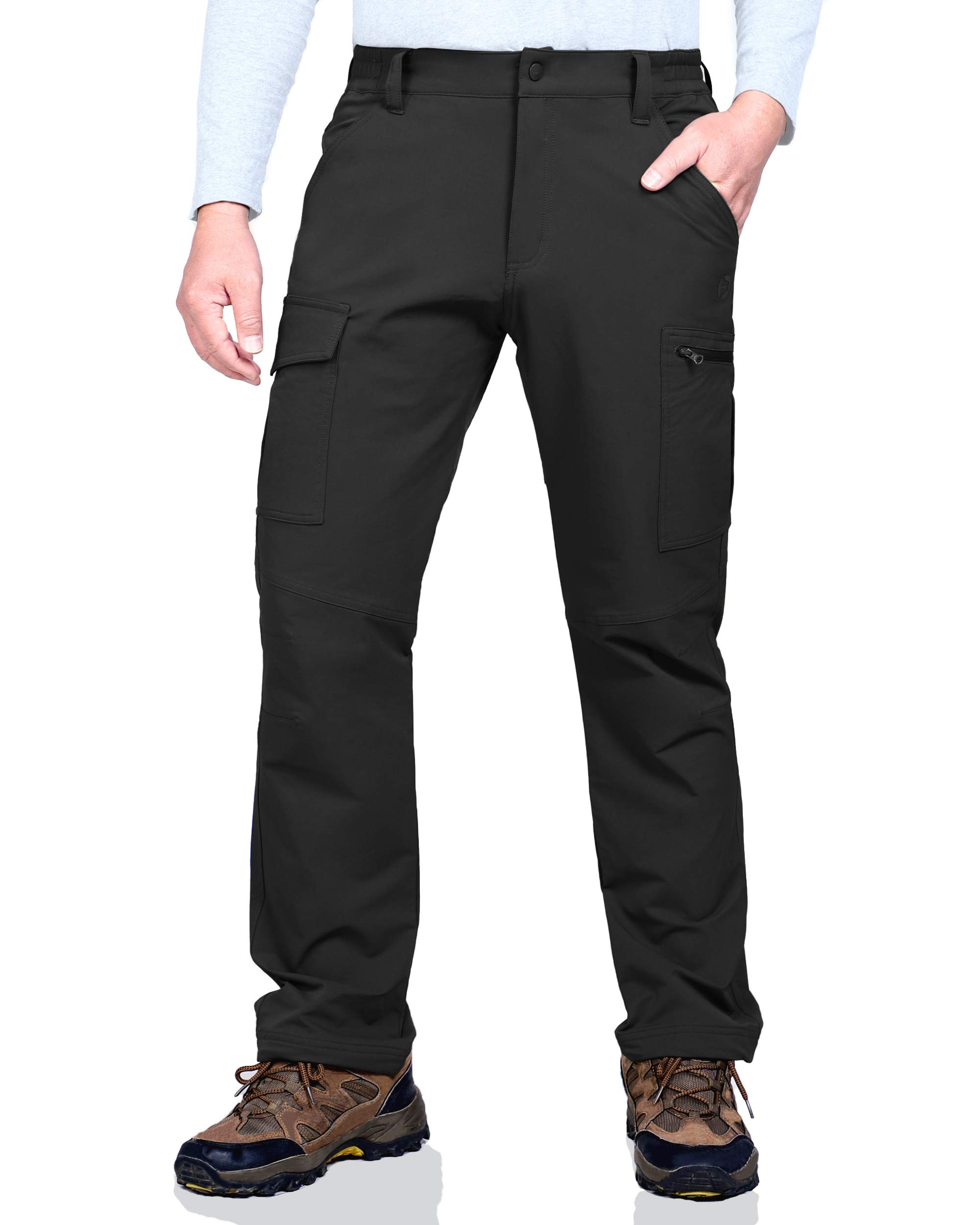Outdoor Ventures Men's Hiking Pants Lightweight Comfy Stretch Water Resistant Tactical Work Cargo Pants with 6 Pockets