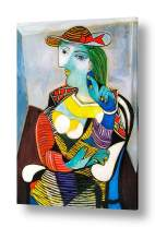 "Alonline Art - Marie Therese Walter by Pablo Picasso | framed stretched canvas (Synthetic) on a ready to hang frame - gallery wrapped | 32""x45"" - 81x115cm 