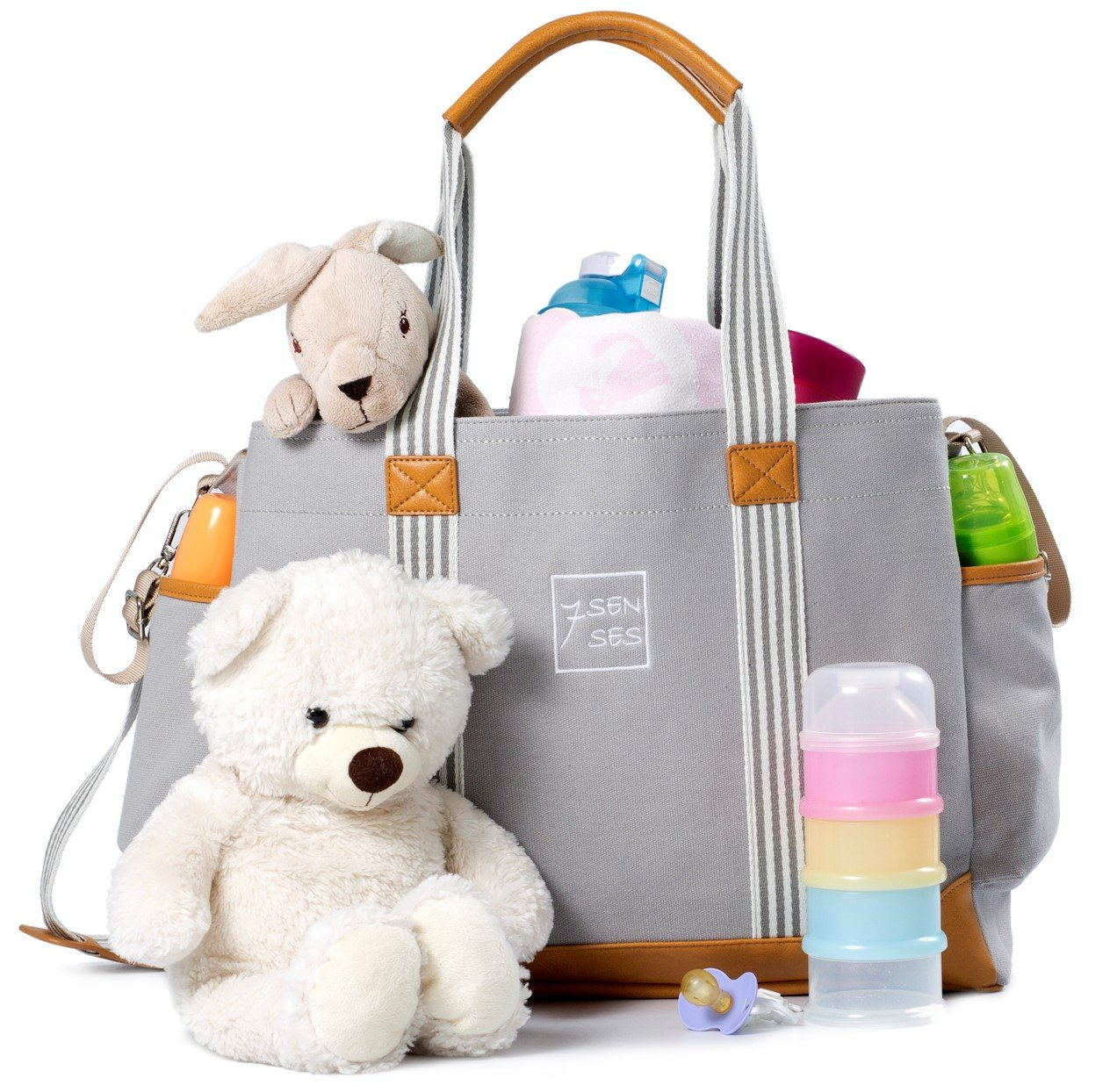 Diaper Bag for Girls and Boys - Large Capacity Baby Bag by 7Senses