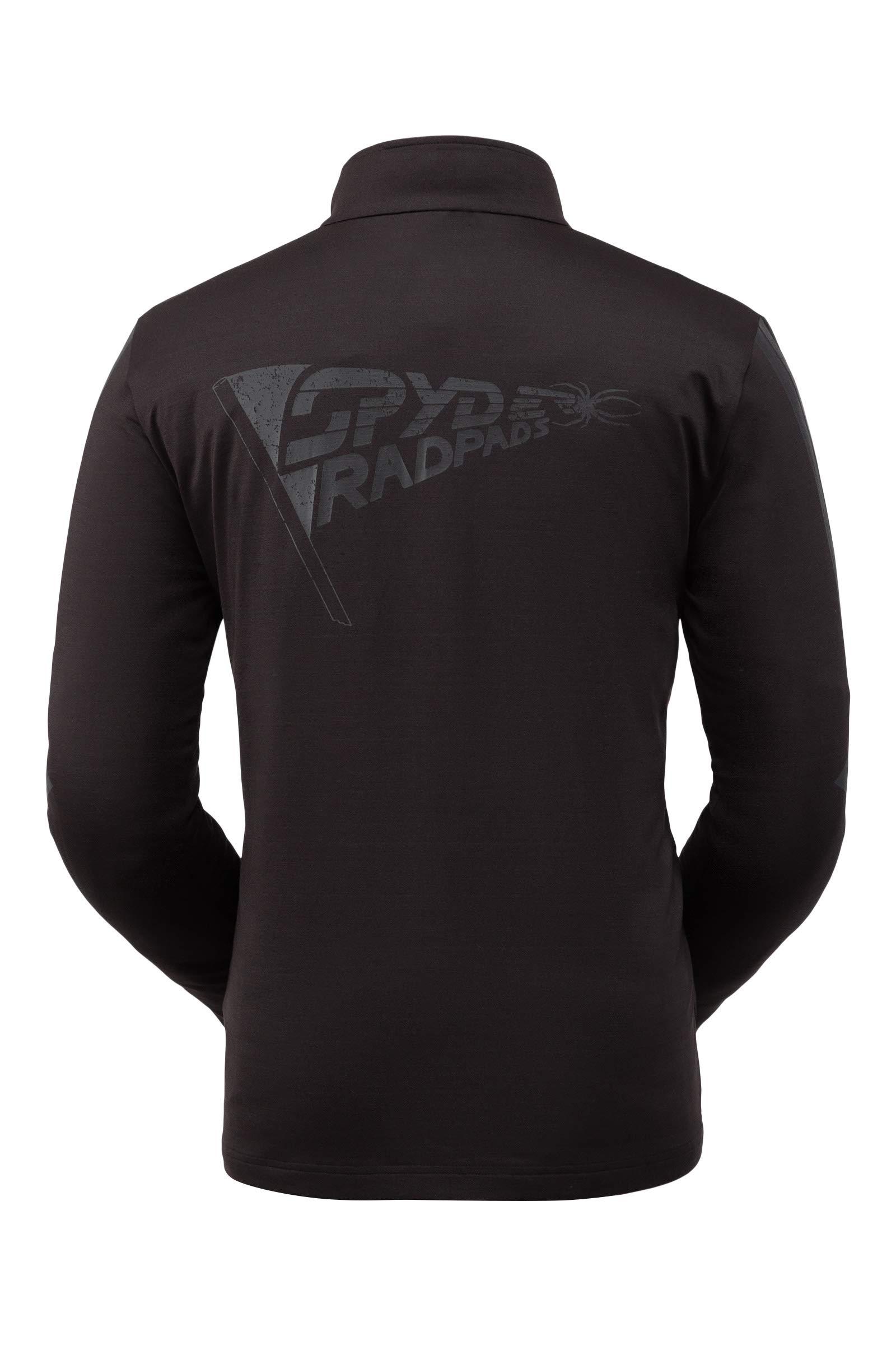 Spyder Men's Paramount Zip T-Neck – Quarter-Zip Pullover Long Sleeve Active Shirt