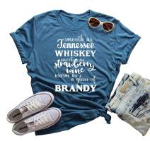 Smooth As Tennessee Whiskey Crew Neck Tshirt Summer Country Music Casual Tops
