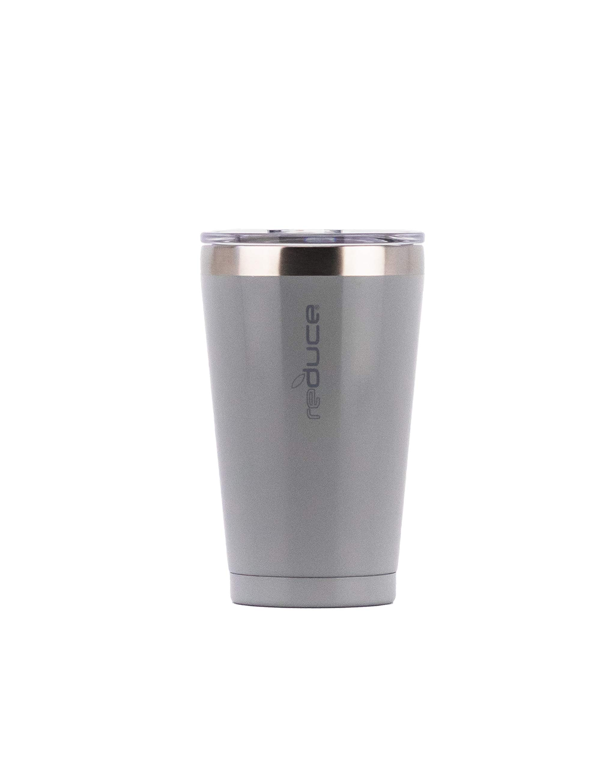 Reduce Insulated Tumbler Cup with Lid - Pint Size, Opaque Gloss Cool Mist, 16 oz, Keeps Drinks Hot/Cold - Stainless Steel, Ideal for Home/Travel - Fill with Coffee, Water, Beer, Soda