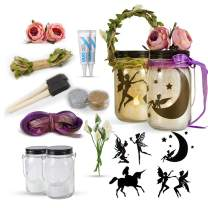 Fairy Craft Kits for Girls - Fun DIY Arts and Crafts Project for Kids - Make Your Own Fairy in A Jar Night Light Kit - Great Gifts for Deco Art Project